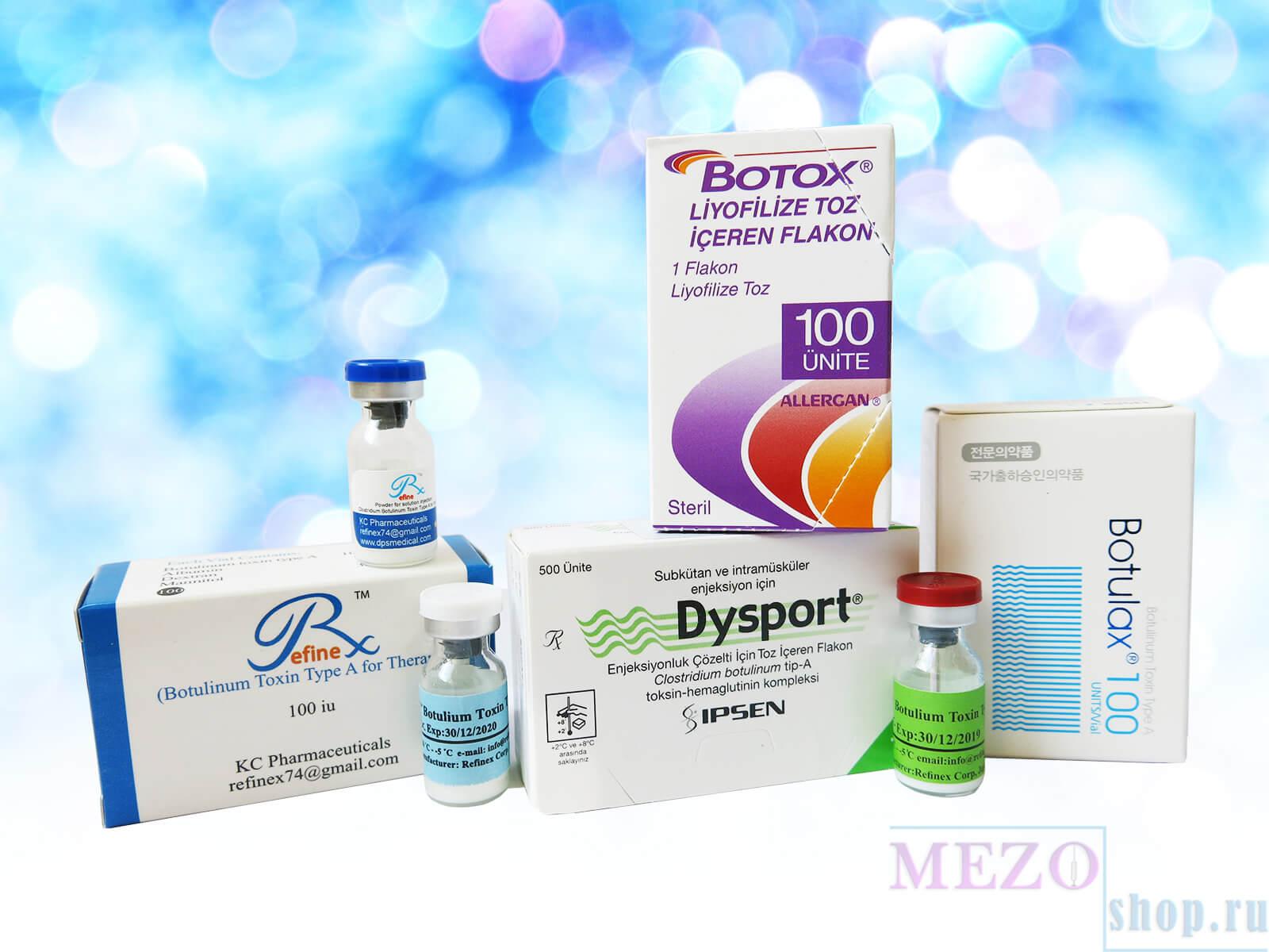 Ботулинотерапия Ботоксом и Диспортом